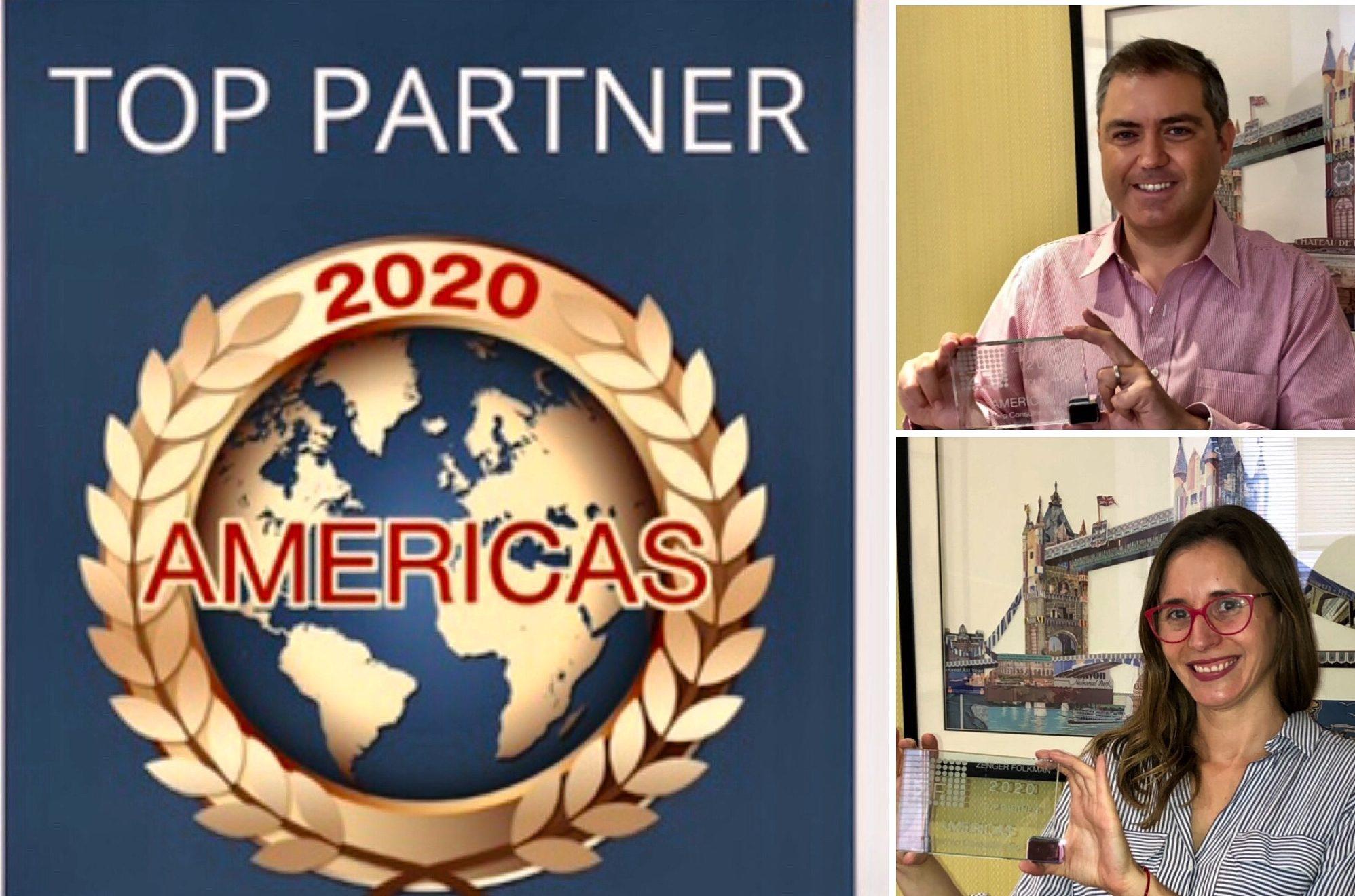 """""""Top Partner América"""" por Zenger Folkman"""